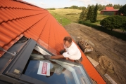 Einbau eines VELUX Fensters in ein neues Dach